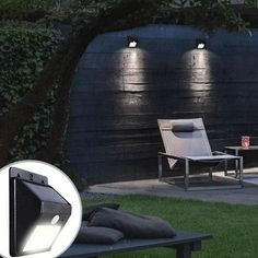 Solar-Powered LED Fairy Lights Solar-Powered Motion Sensor Security Light - No Wiring Needed, Easy I Led Garden Lights, Led Fairy Lights, Solar Lights, Dim Lighting, Unique Lighting, Outdoor Lighting, Outdoor Decor, Lighting Ideas, Backyard Lighting