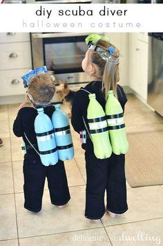 DIY Scuba Diver Halloween Costume, Delineateyourdwelling.com