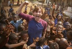PHOTO OF THE DAY - 17th January 2016:   David Tennant in Sierra Leone for Sport Relief (2013)