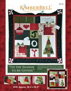 Tis the Season To Be Giving Wall Hanging Quilt Pattern by Kimberbell at TCSFabrics.com #TisTheSeason #TisTheSeasonToBeGiving #KD125 #Kimberbell #ChristmasProject #ChristmasDecor #HolidayProject #HolidayDecor #Quilting #Sewing #WallHangingPattern #QuiltPattern