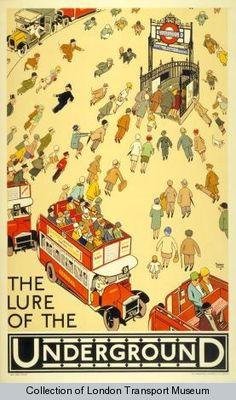 Exposición de posters del metro de Londres
