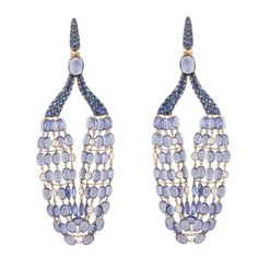 Soho Gem Fine Jewelry Boutique - Lilac Sapphire Bead Chandelier Earrings, $25,200.00 (http://www.sohogem.com/lilac-sapphire-bead-chandelier-earrings/) Dramatic on-trend earrings. Get them online or in our store at 367 W. Broadway, New York City.