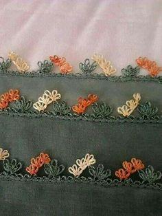 İğne oyası Crochet Borders, Needle Lace, All Craft, Olay, Cross Stitching, Needlepoint, Tatting, Needlework, Diy And Crafts