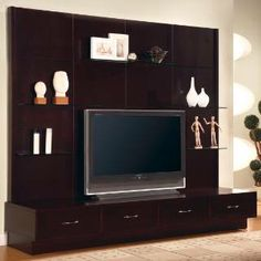 Check out the Coaster Furniture 700185 Contemporary Entertainment Wall Unit in Cappuccino priced at $960.00 at Homeclick.com.
