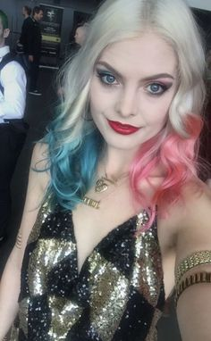 Laura Gilbert cosplaying as Harley Quinn from Suicide Squad