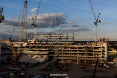 LONDON,UNITED KINGDOM - JULY 4: Work continues on the White Hart Lane redevelopment, the new home of Tottenham Hotspur at White Hart Lane on July 4, 2017 in London, England. (Photo by Tottenham Hotspur FC/ Tottenham Hotspur FC via Getty Images)