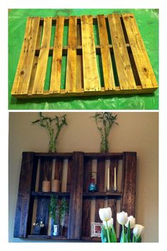 pallet wall decor, this one looks really cute!