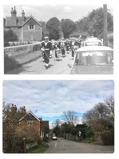 The Street in 1963 and now.