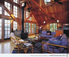 Here is another example of a living room with a clerestory