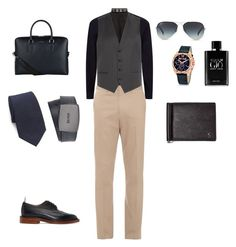 """Untitled #5"" by unafebun-1 on Polyvore featuring Burberry, Gieves & Hawkes, HUGO, Thom Browne, Just Cavalli, BOSS Black, Ray-Ban, Giorgio Armani, Ralph Lauren and Cathy's Concepts"