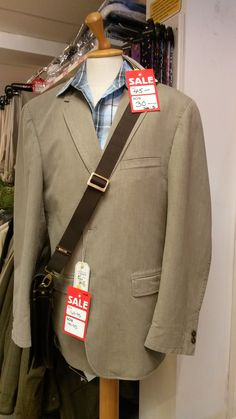 This stylish men's outfit and courier bag are in the summer sale at Luck of Louth - who says great style has to cost a fortune? Pop in today or browse our website for some great summer bargains...