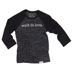 Type super awesome things here about walk in love. and then click share! walk in love. Black/Charcoal Unisex Baseball T-Shirt #walkinlove #iwearwalkinlove