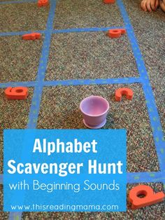 My girl will love this game! | This Reading Mama Alphabet Scavenger Hunt with Beginning Sounds