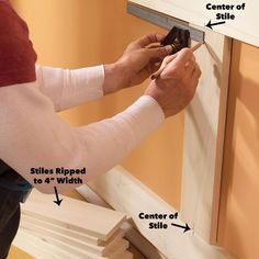 Elegant, traditional wainscoting looks like an intimidating project, but with this simple, easy-to-assemble design even a moderately skilled DIYer can trans Beadboard Wainscoting, Dining Room Wainscoting, Wainscoting Styles, Wainscoting Panels, Door Molding, Moldings And Trim, Crown Molding, Secret Storage, Hidden Storage