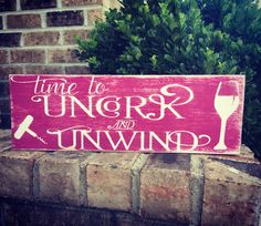 Uncork and Unwind by WhimsEchols on Etsy