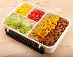 Taco Bento Box! I've never tried making a traditional Japanese Bento Box before but this website is inspiring and informative. Can't wait to get one! :)