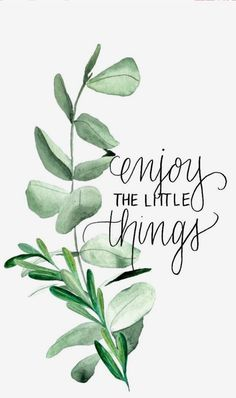 Enjoy the little things Quote Quotes Life