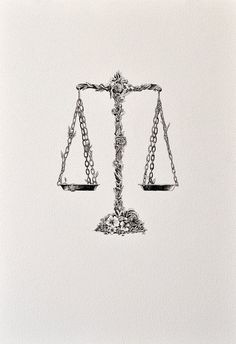 LIBRA - ARCHIVAL PRINT. I seriously want an old school scale tattoo with…
