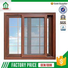 New design wholesale price wood color pvc window grills design for sliding windows