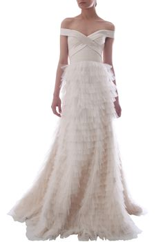 A gorgeous alternative to the typical bustier gowns around...