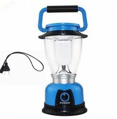 SunbowStar Solar Panel Rechargeable Tensile Outdoors Camping LED Lantern with USB Output Blue