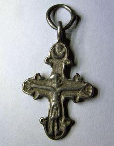 Древнерусское серебряное распятие 11 века RRR
