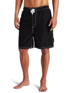 877cec38b8 Mens Barracuda Extended Size Trunk, Black, 3X Trunks Swimwear, Men Swimwear,  Swim
