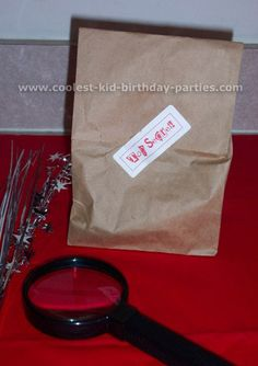 Tabitha's Secret Agent Party Tale Birthday Idea