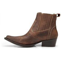 9ada1deb93 Bota Texana Country Capelli Boots Couro Cano Curto Masculina