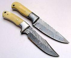 Custom Made Hunting Knife LOT of 2 knives