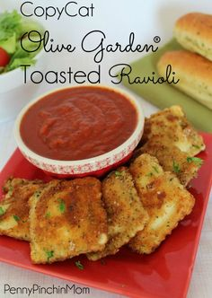You can make Olive Garden's Toasted Ravioli right at home -- with just a few simple ingredients!  No need to pay big bucks for an amazing dish!!