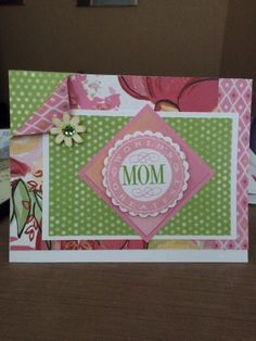 April 2015 Card Class.  CTMH Blushed.  Mother's Day.