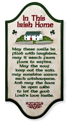 """""""In This Irish Home"""" Irish Blessing x Wall Plaque Irish Prayer, Irish Blessing, St Paddys Day, St Patricks Day, Immigration Quebec, Irish Quotes, Irish Sayings, Irish Proverbs, Irish Girls"""