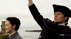 "henricavyll: ""Caitriona Balfe and Sam Heughan Say Goodbye to Scotland """