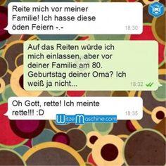 Lustige WhatsApp Bilder und Chat Fails 170 - Reite mich