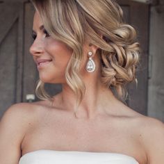 Gorgeous style perfect for a wedding. #wedding #hair #style