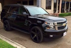 2015 tahoe this how I want mine to look! 2015 Chevy Tahoe, 2015 Tahoe, Chevrolet Blazer, Chevrolet Tahoe, Gm Trucks, Chevy Trucks, My Dream Car, Dream Cars, Motorcycle Wheels
