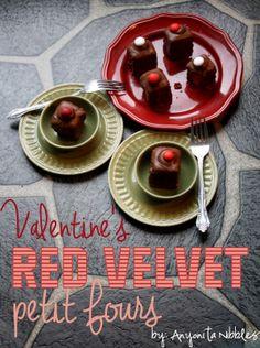 Valentine's Red Velvet Petit Fours