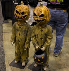 evil pumpkin headed children props