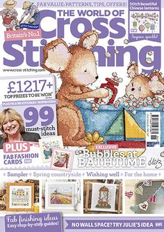Issue 226 of the magazine is here! Find all new inspiration in The World of Cross Stitching magazine... On sale in a supermarket or newsagent near you, or in the US, check out bookstores like Barnes & Noble, or BooksAMillion and craft stores like JoAnn's. If you fancy a digital edition (so easy and instant!) look in the AppStore (for iPad/ iPhone), in the GooglePlay store for Android, for the Nook, via Amazon for KindleFire or at Zinio for PC!