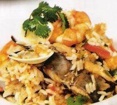 Arroz de Tamboril Com Chouriço e Amêijoas, Receitas culinárias de Portugal - Rotas Turísticas