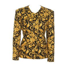 Gianni Versace Baroque Printed Jacket Fall 1991