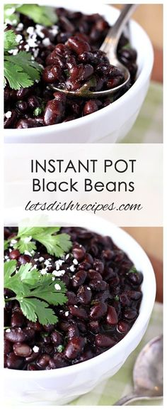 Instant Pot Black BeansInstant Pot Black Beans Recipe | These Instant Pot Black Beans are loaded with flavor and ready in about an hour--no soaking needed!
