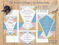 The Sweeter Things Wedding Invitation Suite Pastel Ice Cream Wedding, Ice Cream Theme, Wedding Invitation Suite, Wedding Stationary, Spring Wedding, Save The Date, Perfect Wedding, Rsvp, Stationery