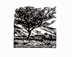 Brecon Way Original Lino print Welsh Landscape Scratchboard Art, Stamp Carving, Black Abstract, Linocut Prints, Art Sketches, Printmaking, Illustration, Artwork, Welsh