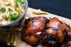 Check out this delicious recipe for Cedar-Planked Teriyaki Glazed Chicken from Weber—the world's number one authority in grilling. Glazed Chicken, Chicken Wings, Teriyaki Glaze, Cedar Planks, Most Delicious Recipe, Poultry, Barbecue, Yummy Food, Asian
