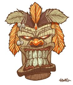 Tiki God mask by *MarcosMachina on deviantART