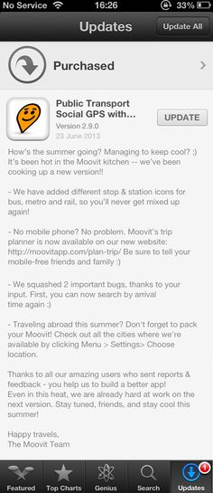 Great iOS description by #Moovit. Love playing with this app on my phone.