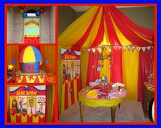 Plastic table cloths to make a tent VBS 2013 Colossal Coaster World