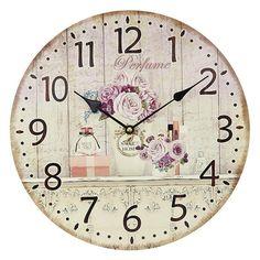 Ceas de perete Perfume Clock, Wall, Vintage, Home Decor, Cozy Homes, Furniture, Clocks, Watch, Decoration Home